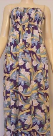 BALI LONG DRESS TAHITI FLOWER