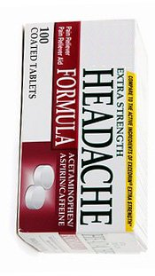 Headache Relief Tablets (Generic for Excedrin), 100 Count
