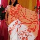 Floral Design Saree