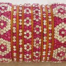 Absolutely gorgeous!  Brand New Pink and White Exquisite Beautiful Bangle Set
