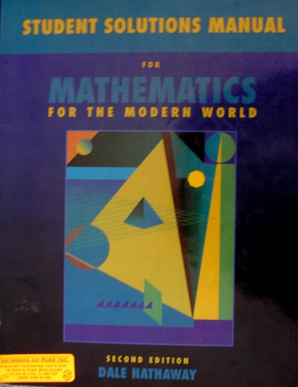 Student Solutions Manual For Mathematics for the Modern: ISBN-10: 0536844372: 978-0536844378