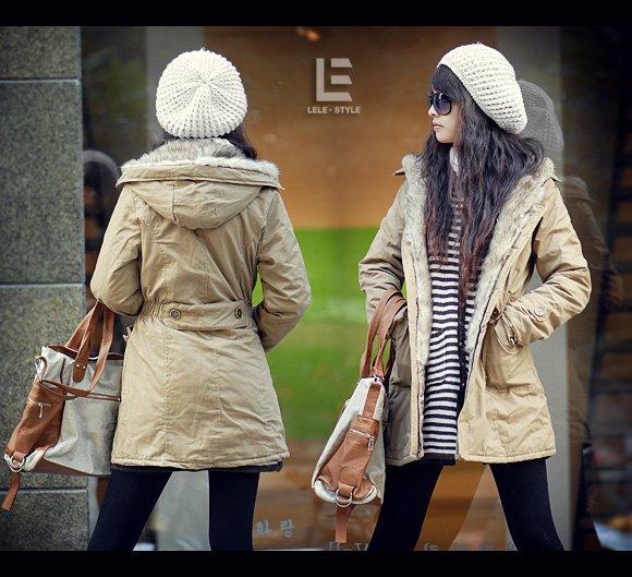 Korean Fashion Wholesale [C2-7002] Coat - Beige - Size L