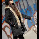 Korean Fashion Wholesale [C2-7002] Coat - Black - Size L