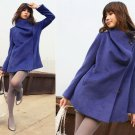 Korean Fashion Wholesale [E2-1091] Coat - Blue - Size M