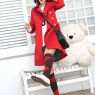 Korean Fashion Wholesale [B2-6164] Classic long trench French peacoat Coat - Red - Size M