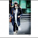 Korean Fashion Wholesale [B2-6176] Thick padded long hooded fur trench Winter Coat - Navy - Size L