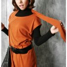 Korean Fashion Wholesale [C2-364] sleeveless little knit tank tunic Dress + scarf set  - Orange