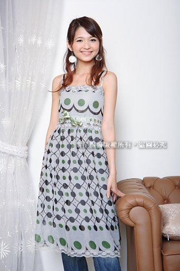 Korean Fashion Wholesale [C2-777] Chiffon Dress - Blue