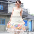 Korean Fashion Wholesale [C2-810] Flowers Chiffon Dress - Cream
