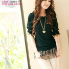 Korean Fashion Wholesale [C2-2525] Pretty Short Dress - Black