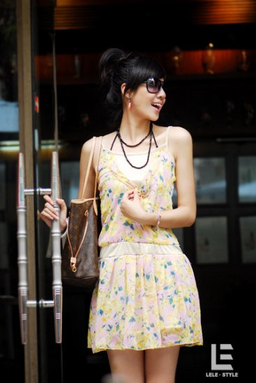 Korean Fashion Wholesale [C2-6046] Pretty Dress -Yellow