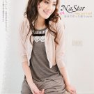 Korean Fashion Wholesale [B2-1332] Pretty knit crotcheted Dress - Brown