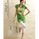 Korean Fashion Wholesale [B2-8899] T-Shirt Dress - Green