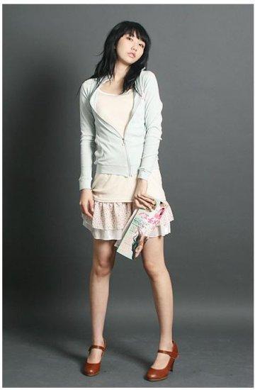 Korean Fashion Wholesale [C2-2225] Pretty Satin Inner slip Dress - White ivory