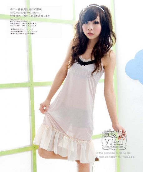 Korean Fashion Wholesale [C2-5269] Lovely Silky Dress - White