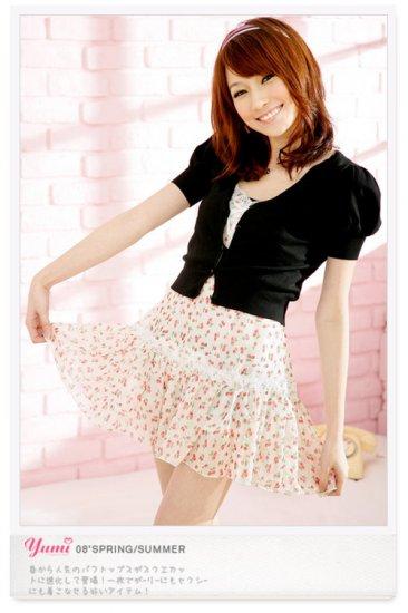 Korean Fashion Wholesale [B2-1296] Innocent Chiffon Dress - White Multi