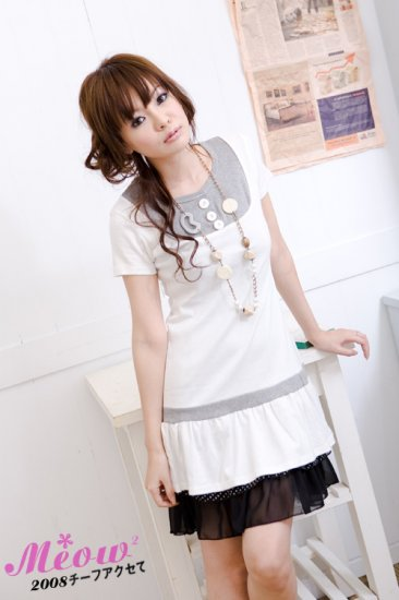 Korean Fashion Wholesale [C2-2527] Pretty White Dress