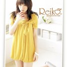 Korean Fashion Wholesale [C2-2256] Cute Bow Bubble Dress - Yellow
