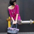 Korean Fashion Wholesale [C2-6009] Cute Shirt + Ruffle Skirt Dress - Pink