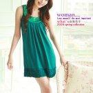 Korean Fashion Wholesale [B2-1463] Cute Sequined Little Dress - Teal