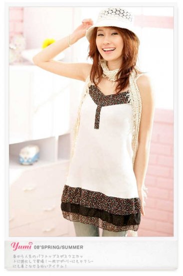 Korean Fashion Wholesale [B2-1390] Cute Little Dress - White