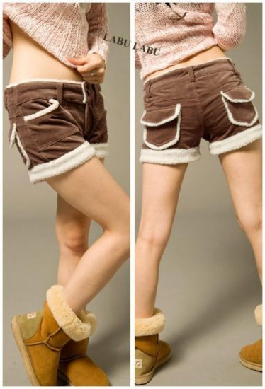 Korean Fashion Wholesale [B2-6237] Shorts - Brown - Size M