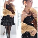 Korean Fashion Wholesale [B2-6247] Luxurious Tiered Satin Party Dress - Black