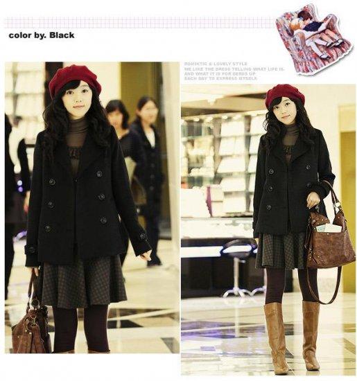 Korean Fashion Wholesale [B2-2018] Luxurious Jacket Coat - Black - Size L