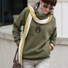 Korean Fashion Wholesale [E2-1106] Warm Hoodie - Army green