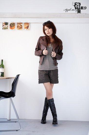 Korean Fashion Wholesale [B2-6219] Stylish Shorts - Brown - Size M