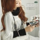 Korean Fashion Wholesale [B2-1602] Luxurious Turle-neck Top + Pretty Chiffon Blouse Set - White