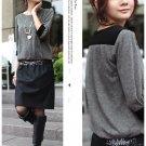 Korean Fashion Wholesale [B2-6261] High-class Designer Shining Belted Dress