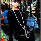 Korean Fashion Wholesale [B2-6214] Stylish&Warm Long Baggy Top/Dress - Black