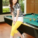 Korean Fashion Wholesale [C2-903] Cute Colored Slim Pants - yellow