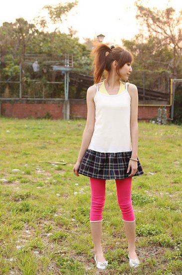 Korean Fashion Wholesale [B2-7083] Pretty Colored Pants - hot pink
