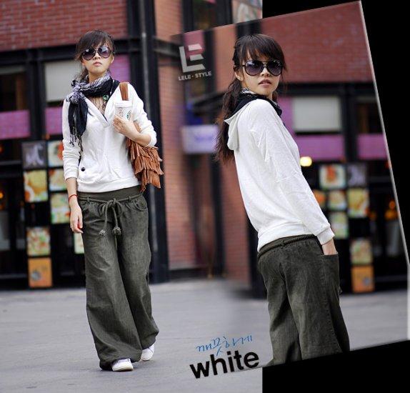 Korean Fashion Wholesale [C2-6099] Baggy Denim Jeans - Green wash