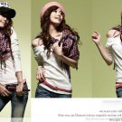 Korean Fashion Wholesale [C2-902] Trendy Must-have Checkered Scarf/Muffler - Black+Pink