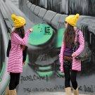 Korean Fashion Wholesale [C2-104] Comfortable Boyfriend Cardigan Striped Sweater - Pink
