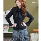 Korean Fashion Wholesale [B2-6259] Beautiful Lady Shirt - black