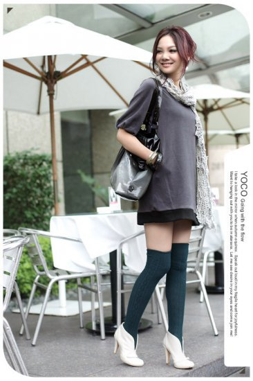 Korean Fashion Wholesale [B2-1605] Lady Attractive & Comfortable Long Top/Dress - Gray