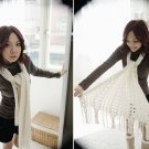 Korean Fashion Wholesale [E2-1107] Casual & Lovely Pin Striped Top - brown