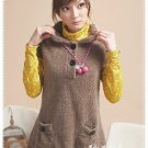 Korean Fashion Wholesale [B2-7447] Soft & Adorable Cashmere Warm Top/Dress - Coffee