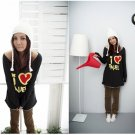 Korean Fashion Wholesale [C2-376] Soft & Sweet Love Off-Shoulder Sweater Top - black