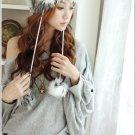 Korean Fashion Wholesale [B2-6230] Sweet Korean Style Off-Shoulder Fashion Top - gray