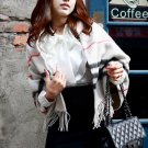 Korean Fashion Wholesale [C2-374] High-class Formal Ruffle Korean style Satin Top