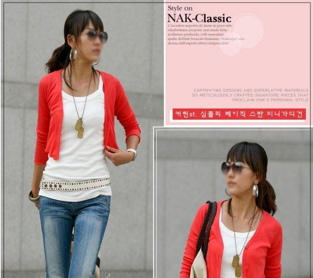 Korean Fashion Wholesale [C2-2035] Elegant & Sweet Korean Cardigan - red