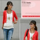Korean Fashion Wholesale [C2-2035] Elegant & Sweet Korean Cardigan - red