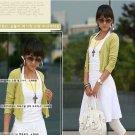 Korean Fashion Wholesale [C2-2035] Elegant & Sweet Korean Cardigan - light green