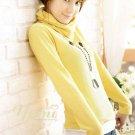 Korean Fashion Wholesale [C2-2076] Warm & Sweet Turtle-neck Sweater Top - Yellow