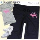 Korean Fashion Wholesale [B2-5011] Victoria's Secret PINK Cute & Sporty 2-piece Suit - gray